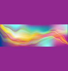 colorful soft fluid waves abstract background vector image