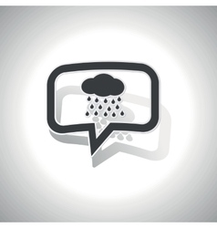 Curved rain message icon vector