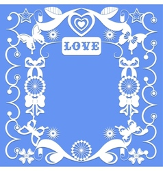 Decorative elements in the style of carving paper vector image