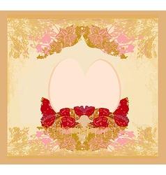 Easter Egg On Grunge Background vector image