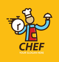 fast chef logo delivery designs template vector image