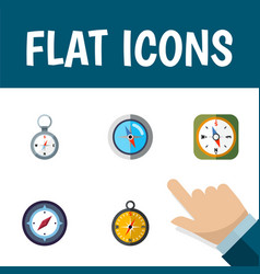 flat icon compass set of direction navigation vector image