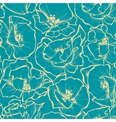 Floral seamless pattern Rose outlines print vector image