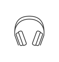 gaming headphones concept icon in thin line vector image