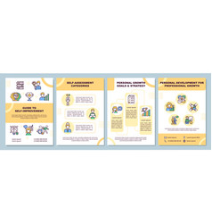 Guide to self-improvement brochure template vector