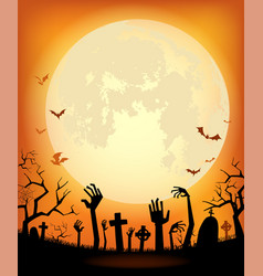 Halloween background for a poster vector