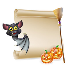 Halloween scroll with space vector