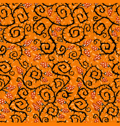 halloween seamless pattern with black barbed spike vector image