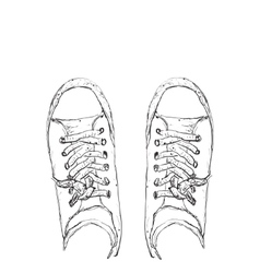 Hand drawn sneakers vector image