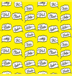 Hello in different languages- seamless pattern vector