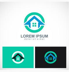 home icon round logo vector image
