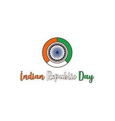 Indian republic day concept vector