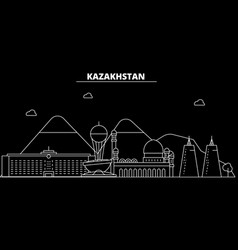 Kazakhstan silhouette skyline kazakhstan - alma vector
