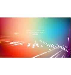 lines abstract with colorful background vector image
