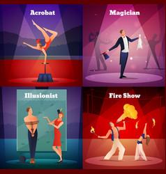 Magic show 2x2 design concept vector