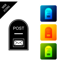 Mail box icon post box icon isolated on white vector