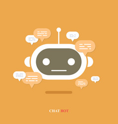 modern flat chat bot with speech bubble vector image