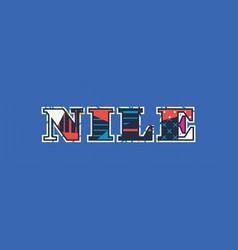 Nile concept word art vector