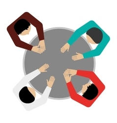 People sitting topview icon vector