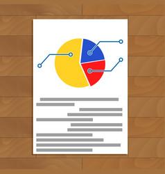 Pie chart document vector