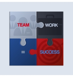 Pieces of jigsaw puzzle showing business equation vector