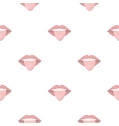 Pierced tongue icon cartoon Single tattoo icon vector