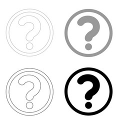 Question mark in a circle the black and grey vector