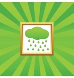 Rain picture icon vector