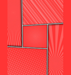 red elegant comic composition vector image