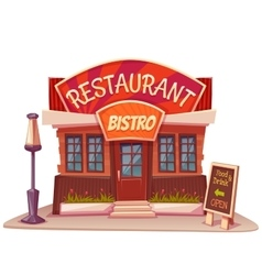 restaurant and bistro vector image