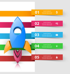 rocket icon abstract infographic vector image