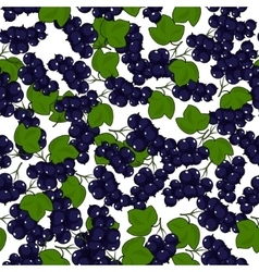 Seamless Blackcurrant Pattern vector