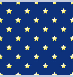 seamless stars pattern yellow stars on blue vector image