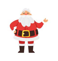 smiling santa claus vector image
