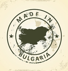 Stamp with map of Bulgaria vector image