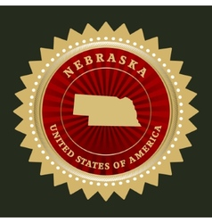 Star label Nebraska vector