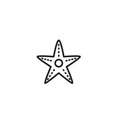 starfish sea icon vector image