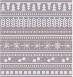 Striped geometric ornament Seamless winter pattern vector image