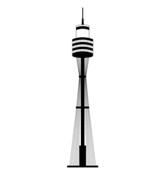sydney tower landmark australia vector image