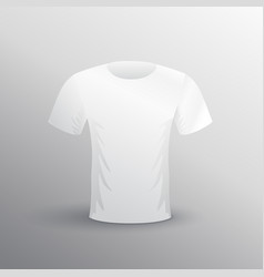 T-shirt mockup on gray background vector
