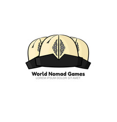 Template logo for world nomad games vector