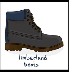 timberland boots vector image