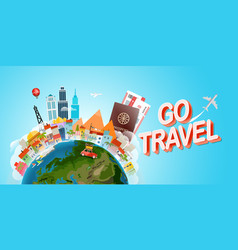 travel concept go travel concept vector image