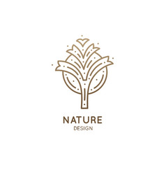 tropical plant logo vector image