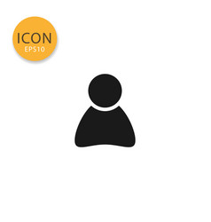user profile icon isolated flat style vector image