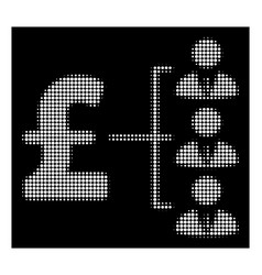 White halftone staff pound payment icon vector