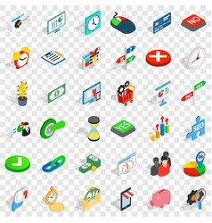 Worker icons set isometric style vector