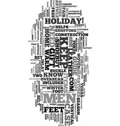 your holiday gift guide for men text word cloud vector image