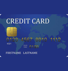 credit card converted vector image
