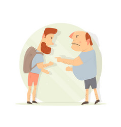 dispute between two men male aggression vector image